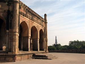 Qutub Minar as seen from Adam Khan's Tomb